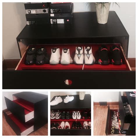 mens shoe storage boxes sneaker shoe storage box retro nike custom