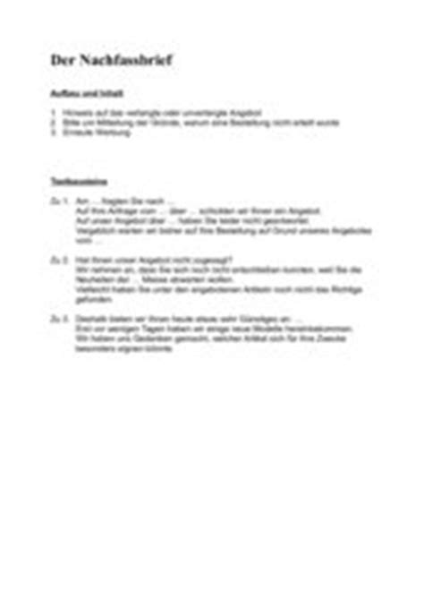 Nachfassbrief Angebot Muster 4teachers Lehrproben Unterrichtsentw 252 Rfe Und Unterrichtsmaterial F 252 R Lehrer Und Referendare