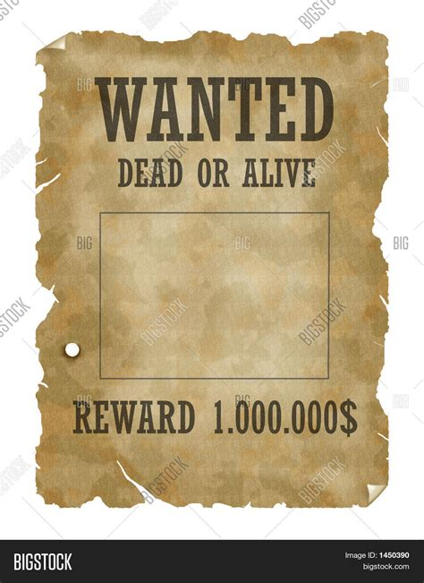 Or Poster Poster Wanted Dead Alive Image Photo Bigstock