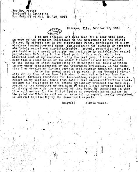 Tesla Letter Tesla Microfilm Letters Page 2 Energetic Forum
