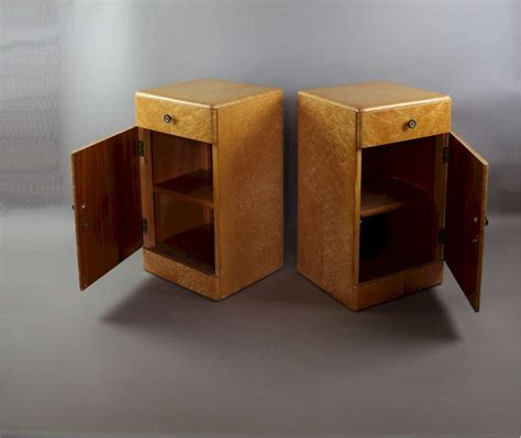 2d Eye Deco 12pair deco birds eye maple pair of bedside cabinets storage furniture