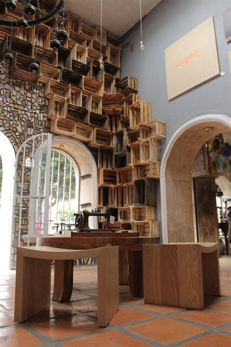 popdots reclaimed wood art installation  casa