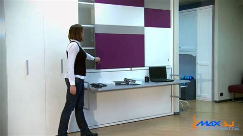 armadio con scrivania letto trasformabile singolo orizzontale con scrivania e