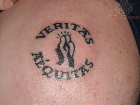 aequitas veritas tattoo veritas aequitas on shoulder