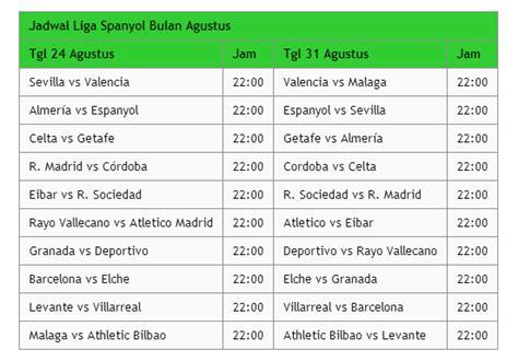 jadwal pertandingan sepakbola liga spanyol 2014 2015 top score piala liga spanyol 2016