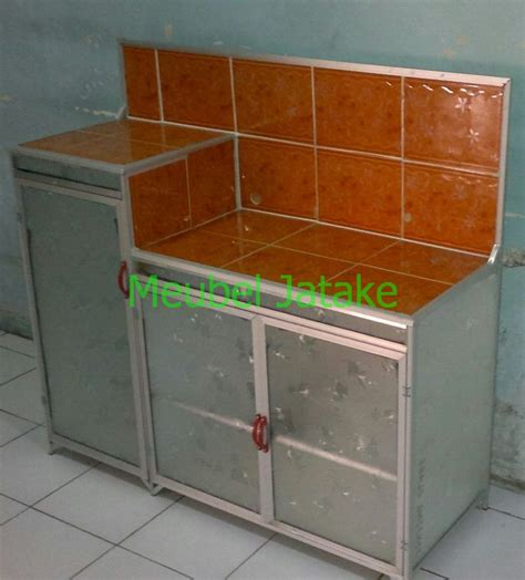 Rak Kompor Aluminium jual meja dapur meja kompor 3 pintu rak piring model l