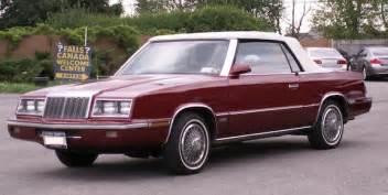 85 Chrysler Lebaron 1985 Chrysler Lebaron Convertible Artvoice Daily