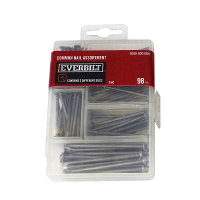 home depot zinc paint everbilt zinc plated common nail assortment 98