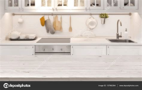 kitchen tabletop kitchen table top and blur background of cooking zone