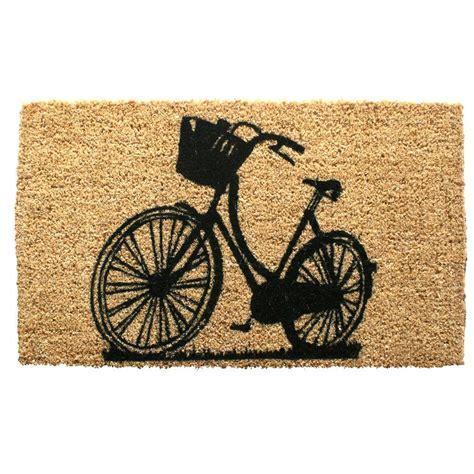 Mat Bike by Entryways Bike 18 In X 30 In Woven Coconut Fiber