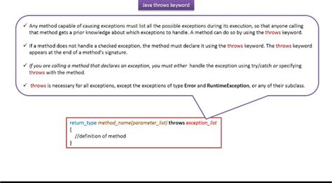 pattern keyword in java java ee java tutorial java exception handling throws