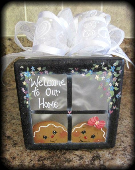 glass block craft projects hp gingerbread lighted glass block lighted glass blocks