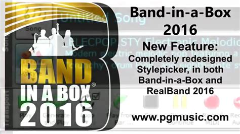 band in a box for windows band in a box 2016 for windows new features and new