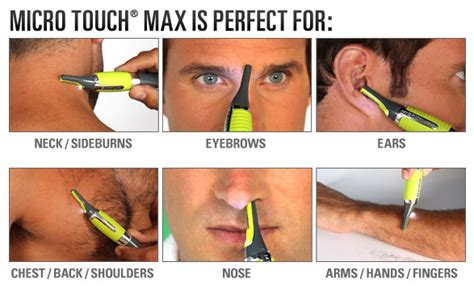 Micro Touch Max Trimmer Alat Cukur Rambut Bulu Hidung Dan Alis microtouch max personal trimmer lazada malaysia