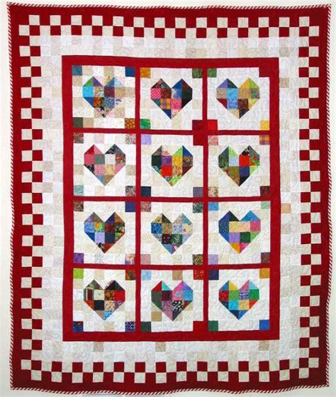 heart pattern quilt heart quilt pattern