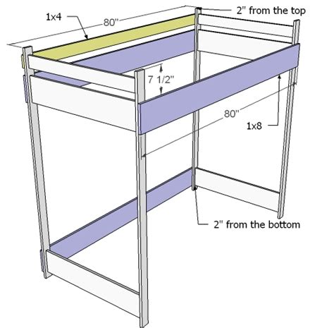 loft bed plans ana white how to build a loft bed diy projects
