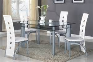 glass and metal dining room sets 5pc modern glass top metal dining room table set 1 table