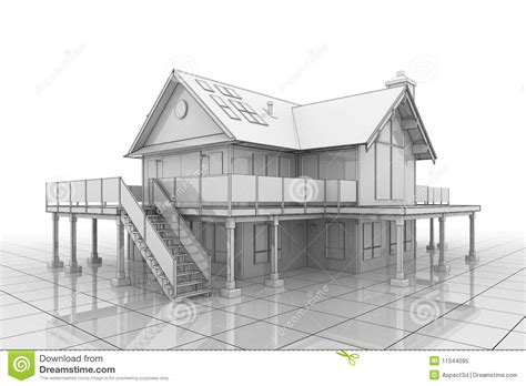 3d design house plans free 3d blueprint house stock illustration illustration of