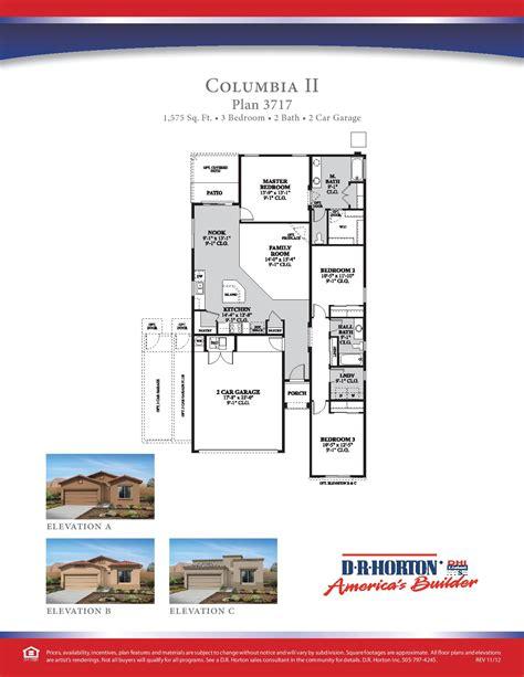 Dr Horton Floor Plan Archive by Dr Horton Columbia Ii Floor Plan