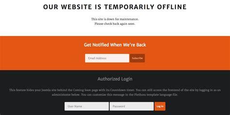 Offline Page Website Maintenance Message Template