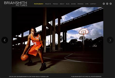 best photography websites brian smith pictures wins pdn photography website design award