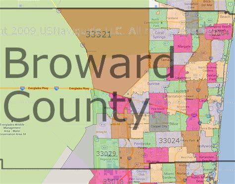 zip code map broward florida 911 outages