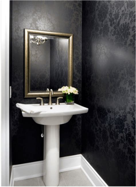lavabo preto papel de parede para lavabo dicas de cores e estilos