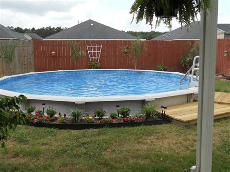 in ground pool ideas semi inground pool problems backyard design ideas
