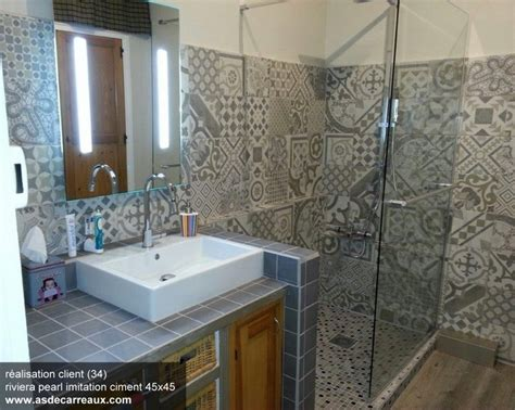 carrelage gris imitation d 233 cor carreau ciment 45x45 cm riviera pearl