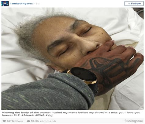kevin gates explains why he covered grandmother s face in