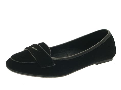 loafers for juniors black slip on plain faux suede loafer school