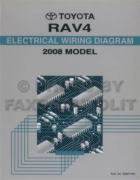 2008 toyota rav4 wiring diagram manual original