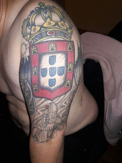 collection of 25 portuguese american flag tattoo on back