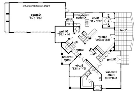 Mediterranean House Floor Plans by Mediterranean House Plans Pasadena 11 140 Associated