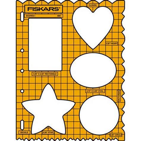 fiskars templates fiskars shape template assorted shapes motifs