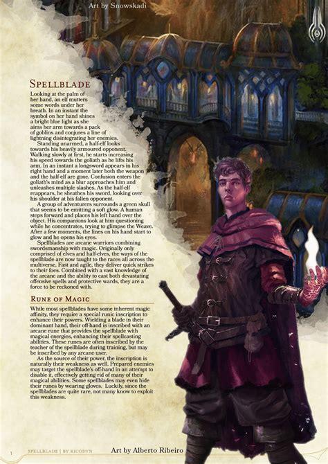 25 best ideas about guardian dnd 5e homebrew spellblade class by ricodyn