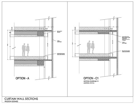 net section typical curtain wall section detail curtain menzilperde net