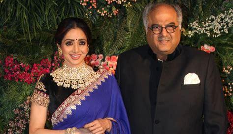 sridevi with her husband who is boney kapoor sridevi s husband bollywood producer