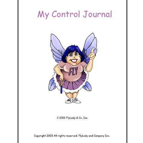 printable control journal pages flylady s flyshop