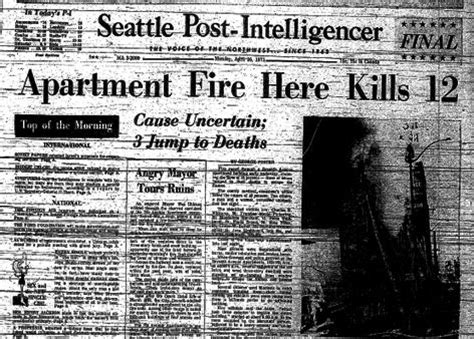 Seattle Criminal Record History Of Major Fires In Seattle Seattle 911 A
