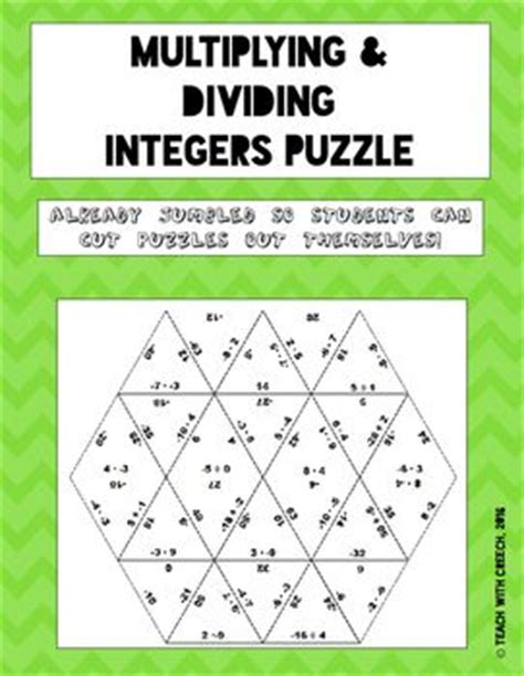 printable games with integers adding and subtracting integers worksheet puzzle adding