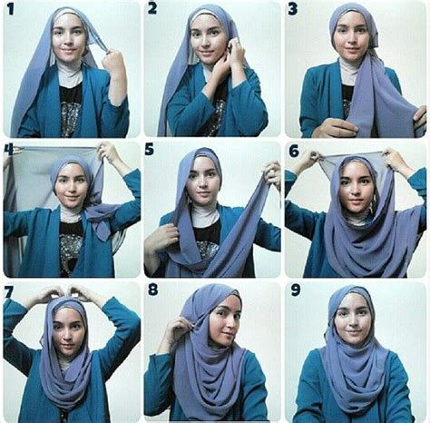 tutorial hijab simple pashmina sifon tutorial hijab pashmina sifon simple dan elegan model