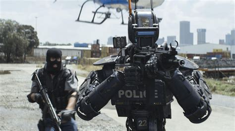 film robot policier chappie review putting the punk back in cyberpunk