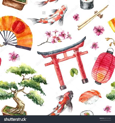 japanese pattern watercolor 17 best images about japanese garden inspired vector art