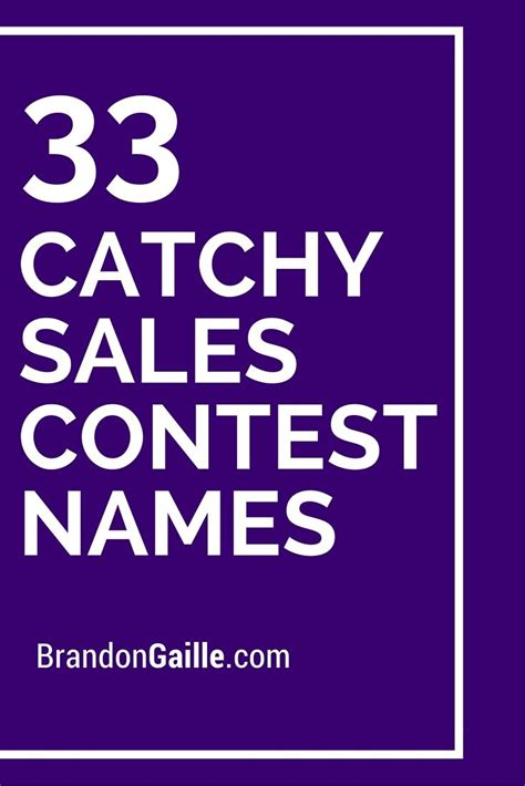 company names for sale 35 catchy sales contest names names