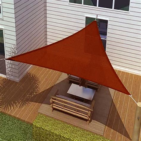 backyard sail canopy sun sail shade triangle canopy cover outdoor patio awning 16 sides 16x16x16 ebay