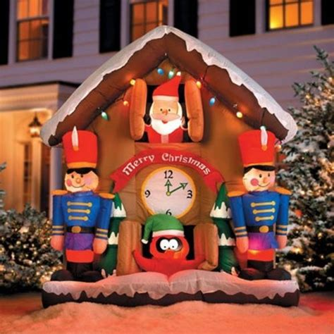 Animated Yard Decorations by 6 5 Animated Santa Clock Airblown Lighted