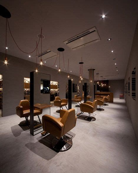 salon interior design hair salon metals
