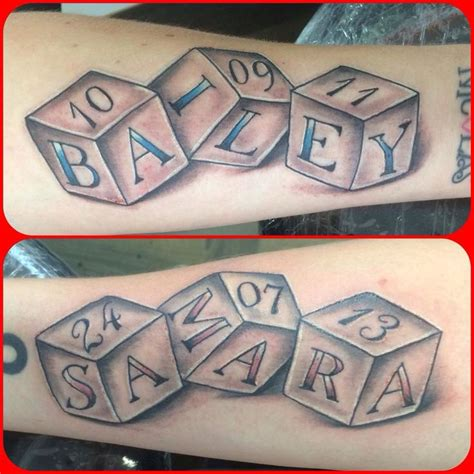 baby block tattoos best 25 baby name tattoos ideas on kid name