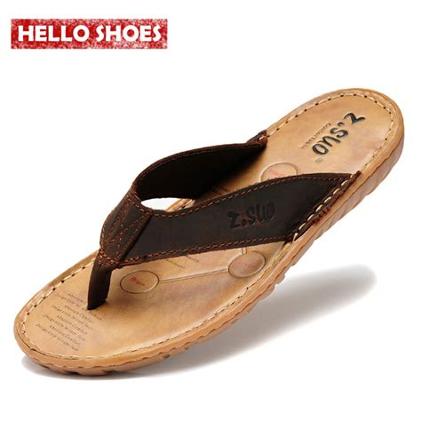 summer slippers for s flip flops genuine leather slippers summer fashion